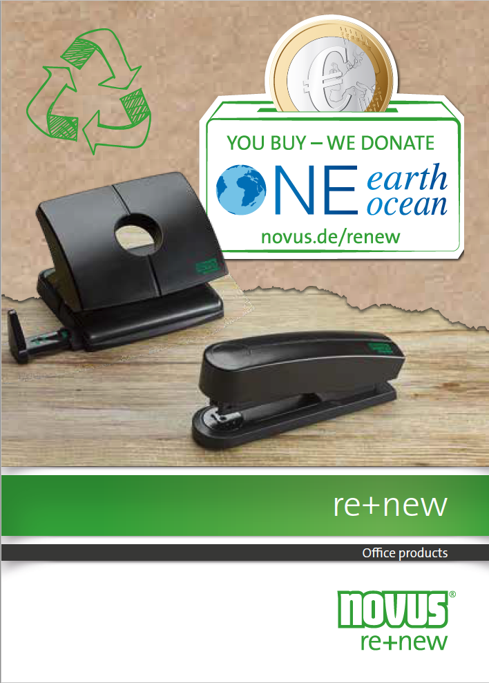 NOVUS re+new: Office products made of recycled plastic